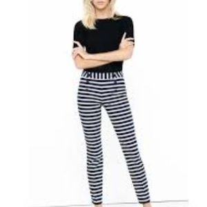 EXPRESS striped tapered sailor button pants 2